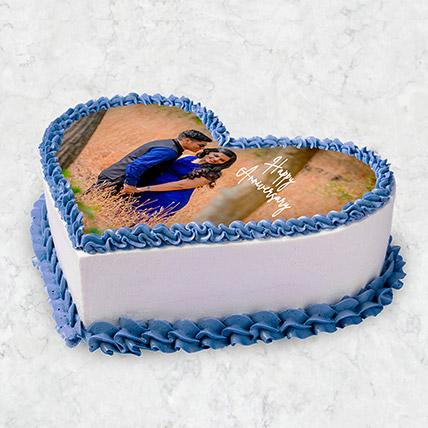 Heart Shaped Photo Cake 10 Pax: Photo Cakes for Anniversary