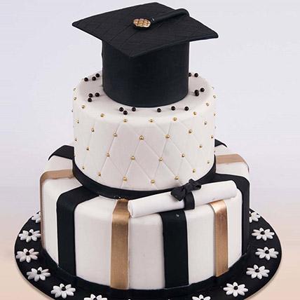 Graduation Hat Cake 6 Kg: 3D Cakes