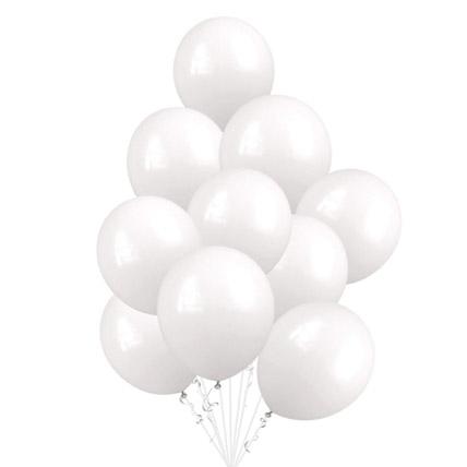 White Helium Balloons: Helium Balloons Dubai