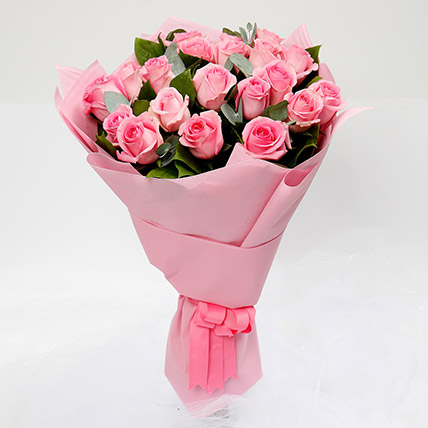 Passionate 20 Pink Roses Bouquet: Bouquet of Roses