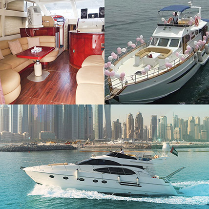 SUNRISE 52FT Yacht With Balloon Decor Online: Premium Gifts