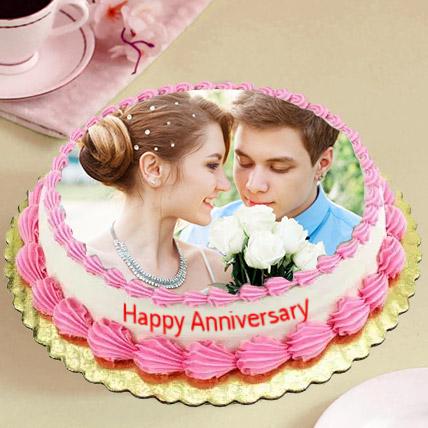 Delicious Anniversary Photo Cake: Photo Cakes