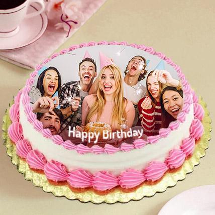Delicious Birthday Photo Cake: Eggless Cakes for Birthday