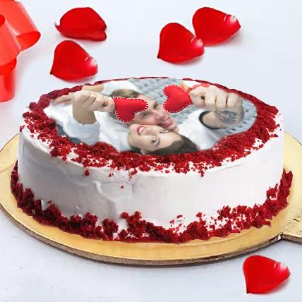 Love Photo Cake: Red Velvet Cake Dubai