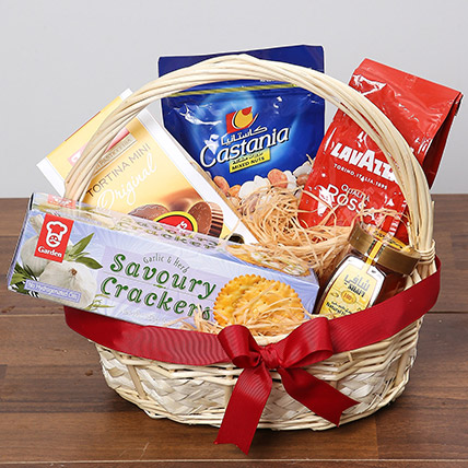 Delicious Basket Of Snacks: Bakery and Snacks