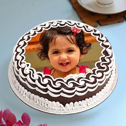 Decorative Photo Cake: 1 year birthday cake