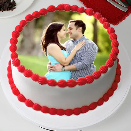 Delightful Personalized Cake: Photo Cakes for Anniversary