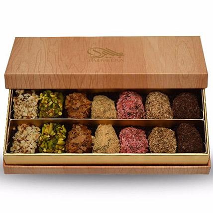 Assorted Box Of Stuffed Dates 14 Pcs: Ramadan Gifts to Sharjah