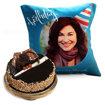 Birthday Cushion and Rose Noir Cake: