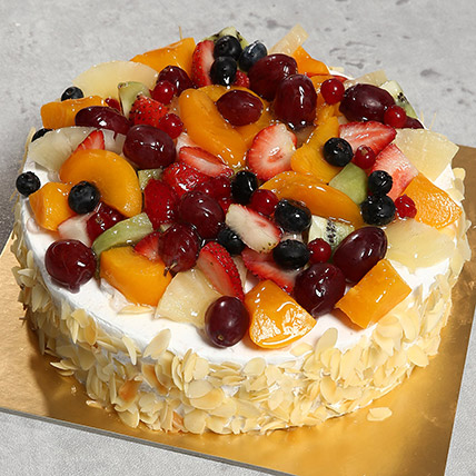Fresh Fruit Fantasy: Eggless Cakes
