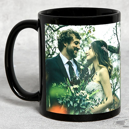 Classic Black Personalised Mug: Personalised Gifts for Anniversary