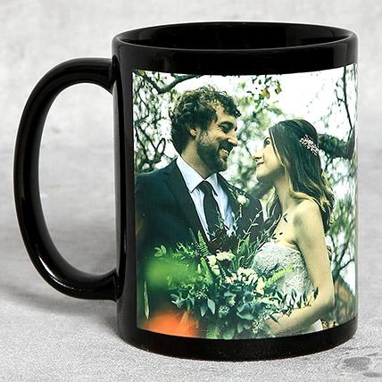 Classic Black Personalised Mug: Anniversary Mugs