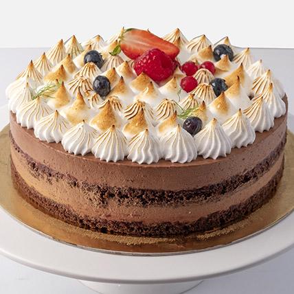 4 Portions Chocolate Meringue Cake: Chocolate Cake