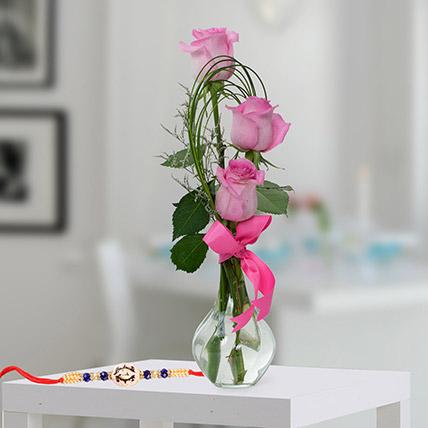 Sweet Emotions: Rakhi With Flowers