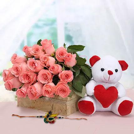 Bro Flower Affection: Rakhi With Flowers