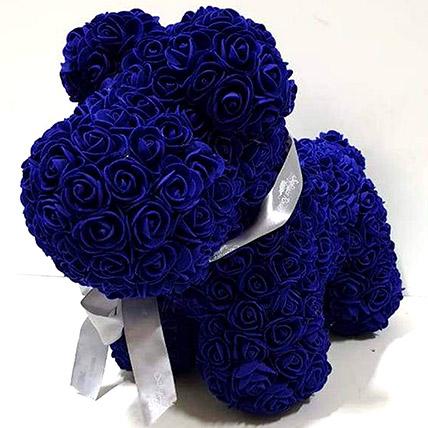 Artificial Blue Roses Dog: