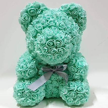 Artificial Roses Turquoise Teddy: