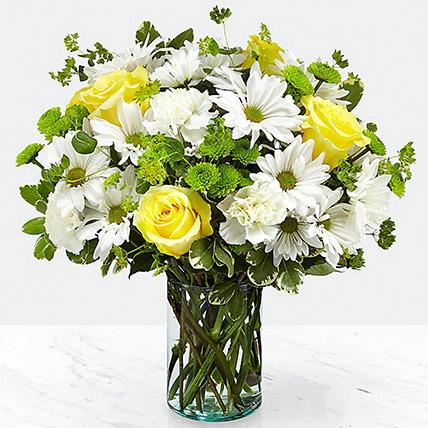 Vase Of Happy Flowers: Carnation Flower Bouquet