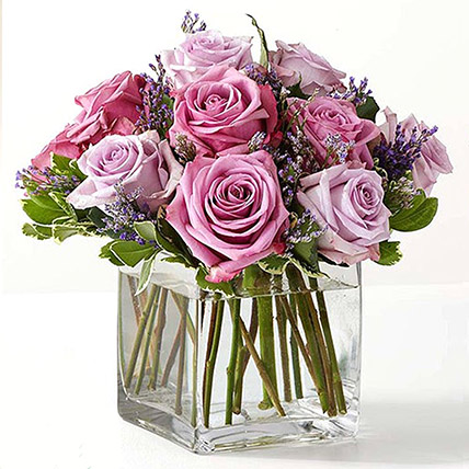 Vase Of Royal Purple Roses: Bouquet of Roses
