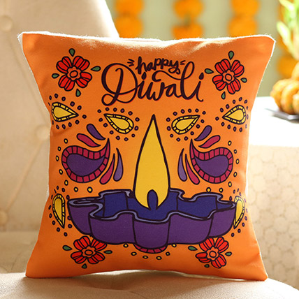 Diwali Diya Cushion: Diwali Gift Ideas