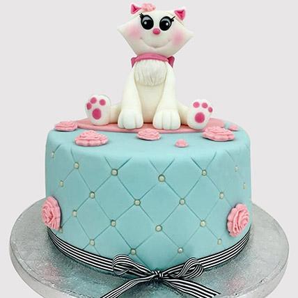 Fabulous Online Cat Cake Cat Birthday Cake Cat Shaped Cake Ferns N Petals Funny Birthday Cards Online Fluifree Goldxyz