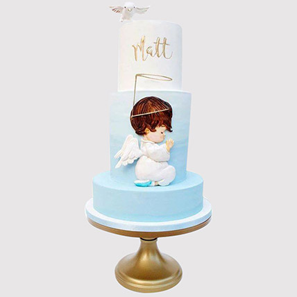 Angel Christening Cake: Christening Cake