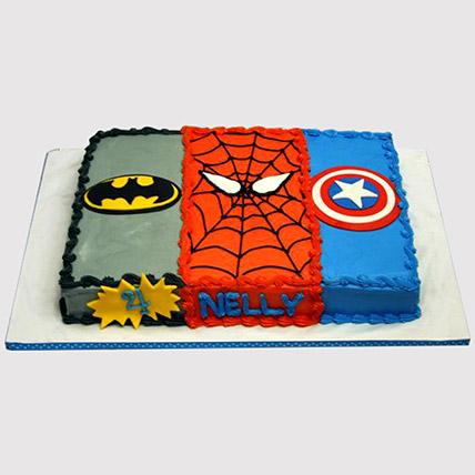 Avengers Cream Cake: Avengers Theme Cake