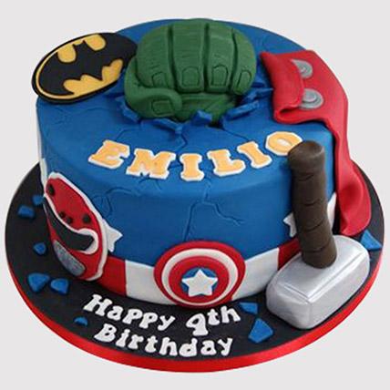 Avengers Themed Fondant Cake: Avengers Theme Cake