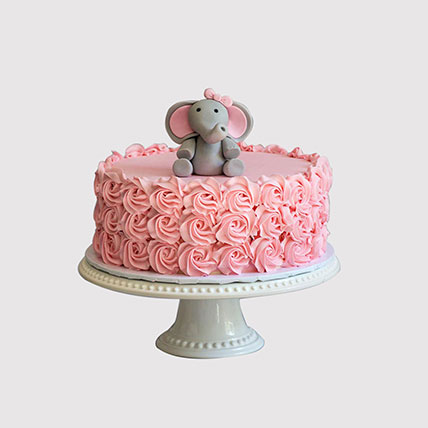 Baby Elephant Designer Cake: Newborn Baby Cake