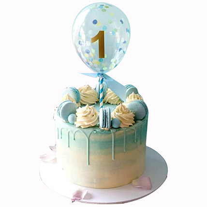 Balloon Decorated Cake: