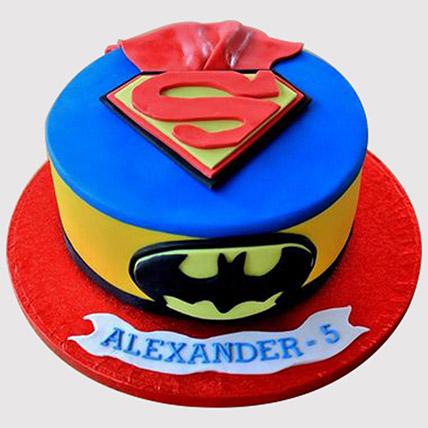 Batman Superman Fondant Cake: Batman Birthday Cakes