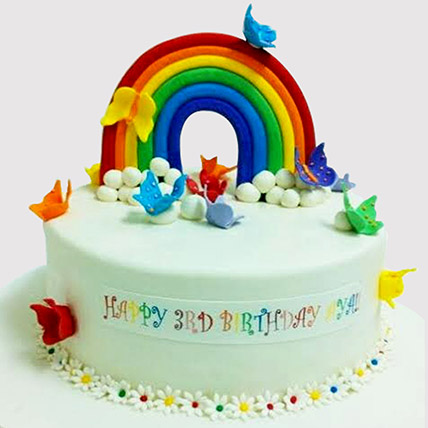 Butterfly Rainbow Cake: Butterfly Cakes