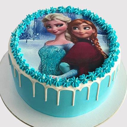 Elsa and Anna Cake: