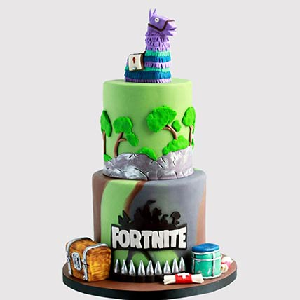Fortnite Treasure Chest Cake: Fortnite Birthday Cakes