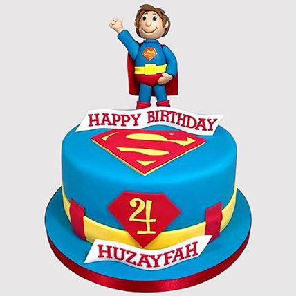 Hey Superman Fondant Cake: Superman Cakes