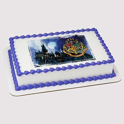 Hogwarts Logo Photo Cake: Harry Potter Cake