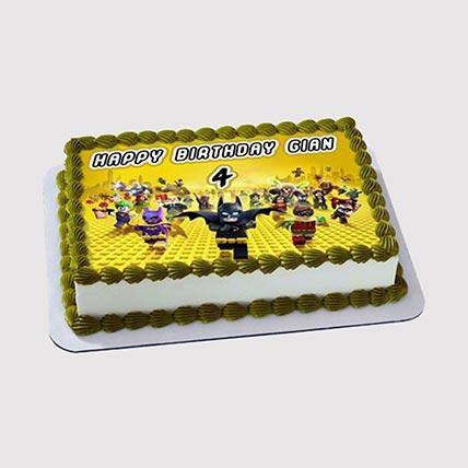 Lego Super Heroes Photo Cake: Lego Birthday Cake