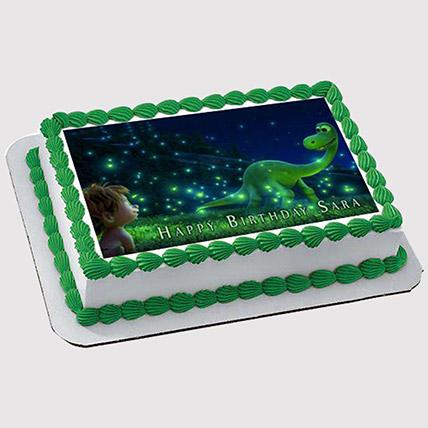 Magical Dinosaur Photo Cake: Dinosaur Theme Cakes