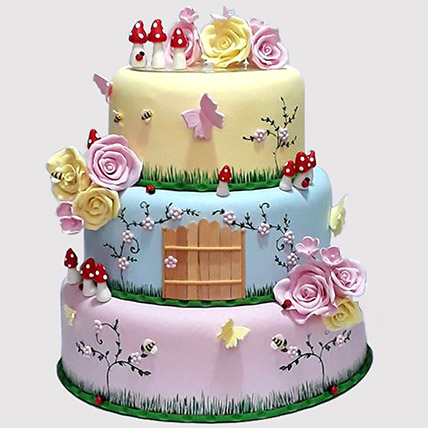 Magical Land 3 Tier Cake: Tinkerbell Birthday Cakes