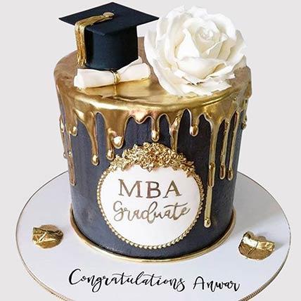 MBA Graduation Cake: Graduation Theme Cakes