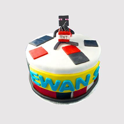 Minecraft TNT Cake: Minecraft Birthday Cakes