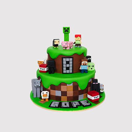 Minecraft World Cake: Minecraft Cake