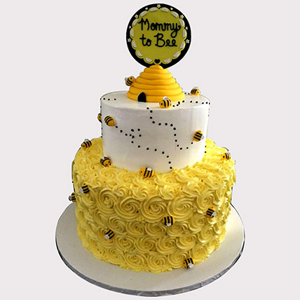 Mommy To Bee Cake: Baby Shower Cakes