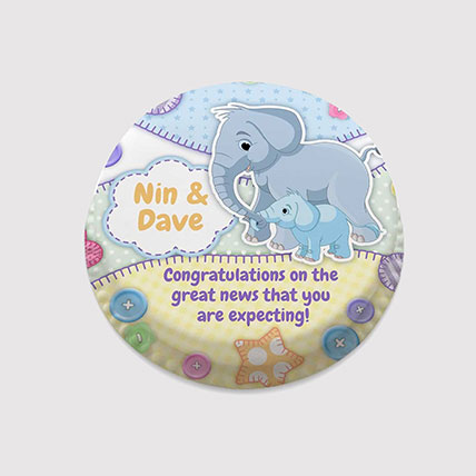 Mother and Baby Elephant Photo Cake: Cakes for New Born