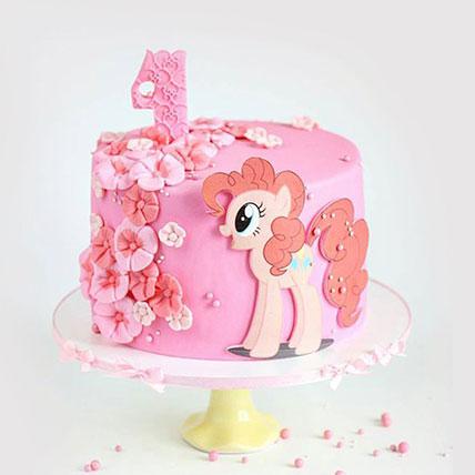 My Little Pony Pinkie Pie Cake: 1 year birthday cake