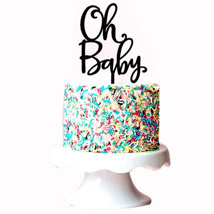 Oh Baby Sprinkles Cake: