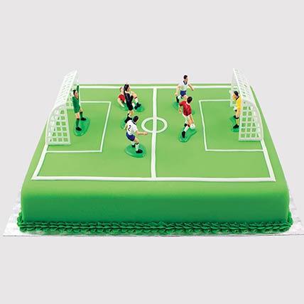 Playing Football Cake: Football Theme Cake