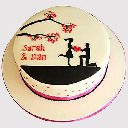 Proposing Her Cake: