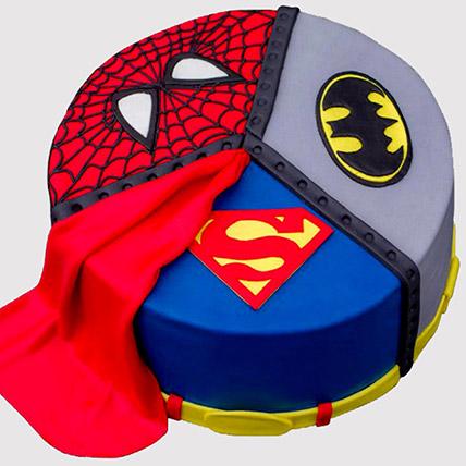 Superheroes Logo Fondant Cake: Avengers Cakes