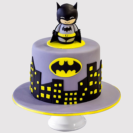 Excellent Online Batman Cake Batman Birthday Cake Ferns N Petals Personalised Birthday Cards Veneteletsinfo